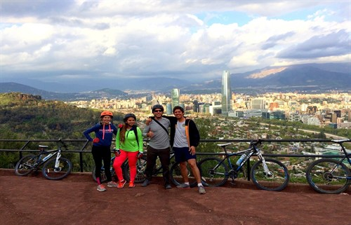 San Cristobal hill - Bike Tour Santiago Chile