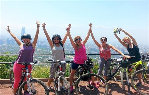 Bike Tour Santiago - Cerro san cristobal